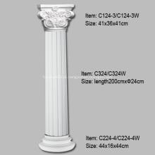 Definição de colunas caneladas para decoração de interiores