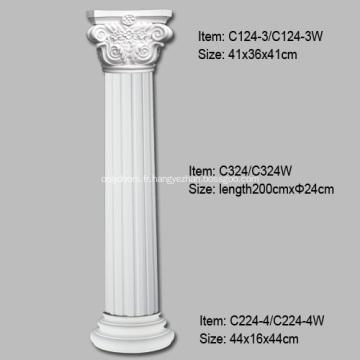 Définition de colonnes cannelées pour la décoration intérieure