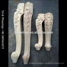 Pieds de meuble en bois sculpté, pieds de table de bonne qualité