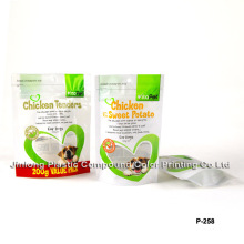 Clear Plastic Pet Food Packaging Bag with Zipper