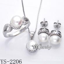 Joyería de moda perla set plata 925 para el partido (ys-2206)