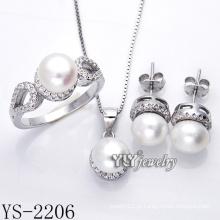 Moda jóia da pérola set 925 prata para a festa (ys-2206)