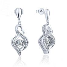 Joyería de moda Baile de diamantes 925 plata cuelgan el pendiente