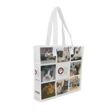 Top Quality customized eco-friendly printed folding recyclable pp woven laminated shopping tote bag