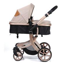 Baby Kleinkind Kinderwagen Carriage Compact Kinderwagen Kinderwagen hinzufügen Tablett (Khaki)