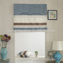 Home decor country style stripe manual chain roman blinds with track
