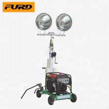 Mini tour d'éclairage mobile avec générateur diesel