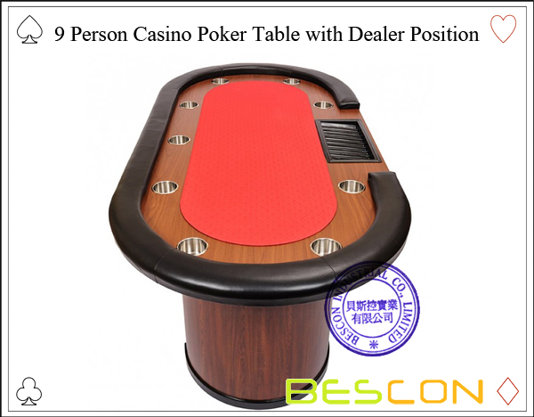 9 Person Casino Poker Table with Dealer Position-3