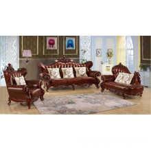 Antique Leather Sofa, Royal Sofa (B12)