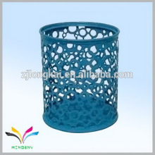 Azul colorido de metal redondo titular de la pluma de cerámica titulares titular de la pluma