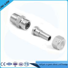 Conexão de tubo de aço inoxidável de 1/2 polegada com anel O