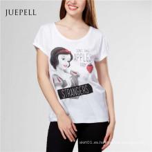 Camiseta de mujer de estampado de moda