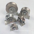 Plated surface U/V /Y Groove roller single bearing fence gate wheels