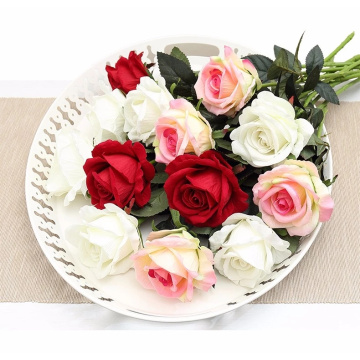 Alta calidad 1 cabeza Real Touch Artificial Rose Flowers
