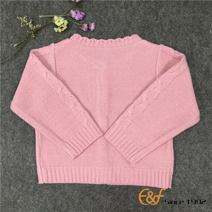 cable knit acrylic sweaters for baby girls