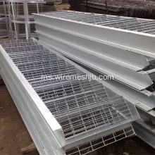Tangkai tangga Hot Dipped Galvanized Steel Grid Plate