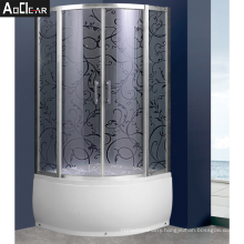 Aokeliya Bathroom And Shower Double Open Sliding Tempered Glass Door System