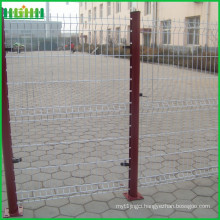 Factory price cheap and fine 75x100mm mesh size curvy welded wire mesh fence