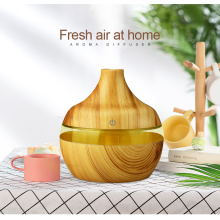 นวัตกรรม 300ml ไม้ Grain Cool Mist Diffuser Humidifier