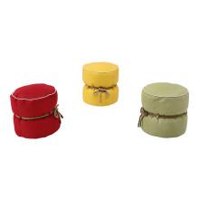 Freizeit Stoff Bohnenbeutel Stuhl runde Ottomane mit Hanf Seil