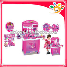 Interesting Kitchen Cooking Set Toy/ Kids Play Pretend Kitchen Set With Music And Light