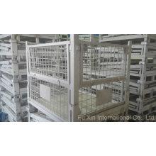 Jaula del almacén de almacenamiento Metal acero plegable
