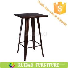 Estilo de mobiliário comercial Réplica de mesa de mesa de metal com mesa alta
