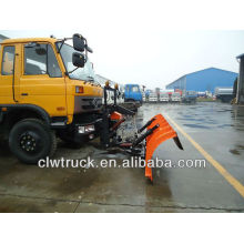 Dongfeng 8 cbm multifunctional suction truck with snow shovel