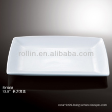 nice healthy white rectangular porcelain dish
