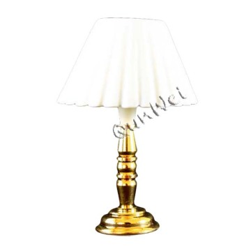 Dollhouse table lamp in brass base