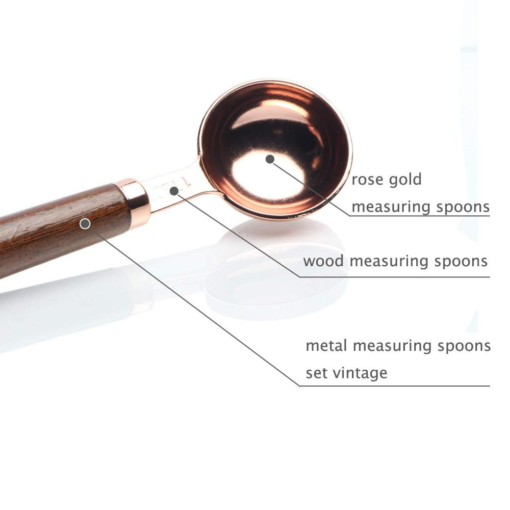 Rose Gold Measuring Spoon Set