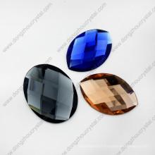 Perles de verre ovales spéciales décoratives colorées de meilleure qualité pour les chaussures