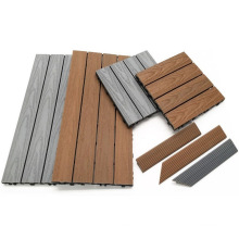 Co-Extrusion WPC Easy DIY Install Waterproof Skin-Friendly Deck Tiles