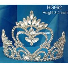 Königin voller Tiara Spielzeug Krone rosa Perle Tiara Hochzeit Prinzessin Rhinestone Kristall Schönheit Festzug Kronen & Tiaras auf Lager
