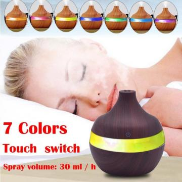 7 Color Changing 300ml Wood Grain Ultrasone luchtbevochtiger