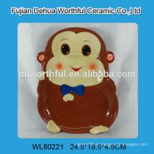 Керамическая плита с дизайном обезьяны