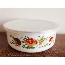 популярные белое Эмалевое покрытие металлической миске для детей