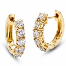14k Gold Überzug Silber Band Ohrringe Schmuck mit großen CZ