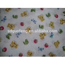 дизайн мультфильм печатных щеткой хлопок фланель ткань для детское одеяло