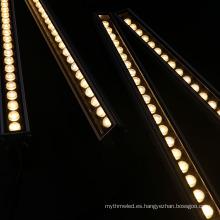 Luz de paisaje exterior de alta potencia 24v 24w arandela de pared de aluminio lineal led blanco cálido