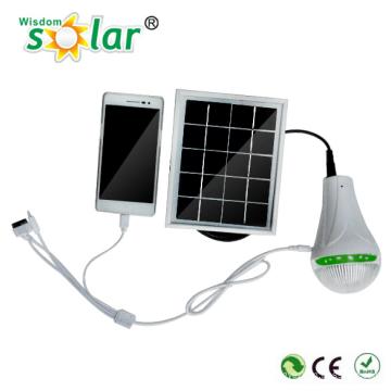 Kit iluminación solar interior portátil con carga móvil directamente
