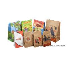 Square Bottom Take Away Food Grade Paper Bag