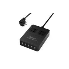 ORICO HPC-2A5U 2 saída Surge Protector 5 portas Carregador USB de mesa com tecnologia de carregamento inteligente
