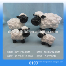 Big size lovely ceramic sheep decoration with black face