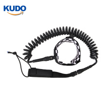 High quality custom paddle coiled surfboard leash for sup