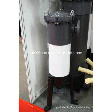 Boîtier de filtre à sac en PVC pour équipement de traitement de l'eau