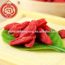 La Chine a certifié la baie de goji organique dans l'utilisation de fruit séchée pour la poudre de baies de goji