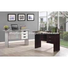 Mesa de madera de oficina con cajón y bloqueo
