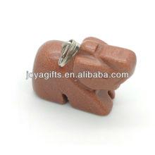 Alta qualidade natural pedra vermelha pingente de pingente de pedra pingente de elefante