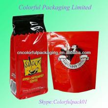 Saco de empacotamento do café da folha de alumínio laminada do reforço do ANIMAL DE ESTIMAÇÃO / VMPET / PE